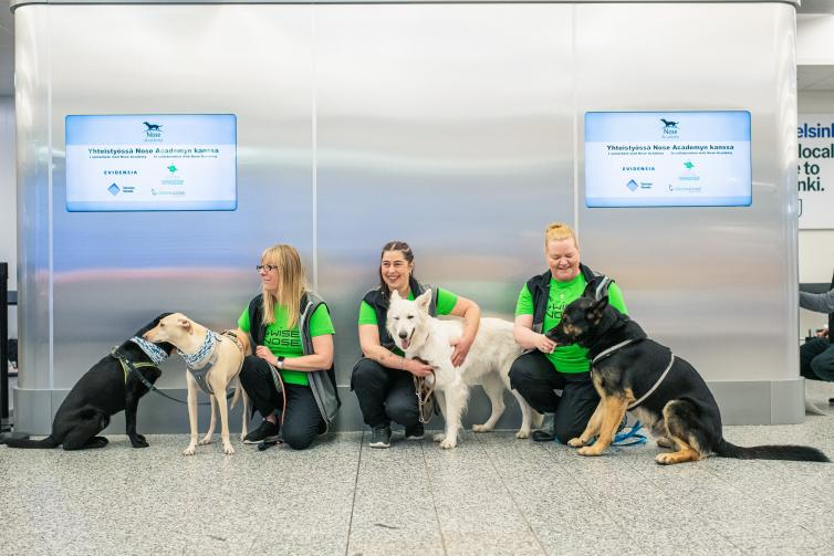 Airports in Helsinki and Dubai use dogs to detect COVID-19
