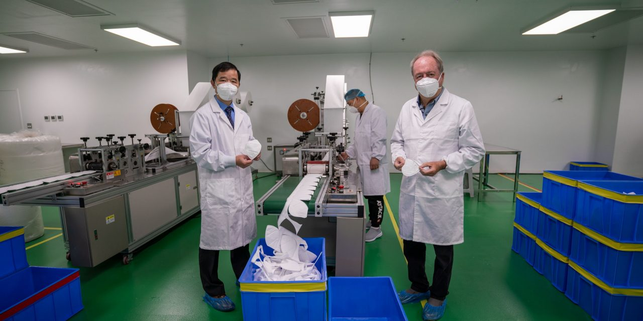 Surrey medical mask plant opens for made in Canada PPE